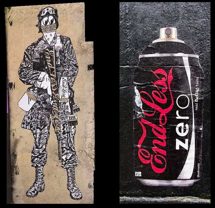Brand wars soldier Vs Endless zero can, exterior applications.