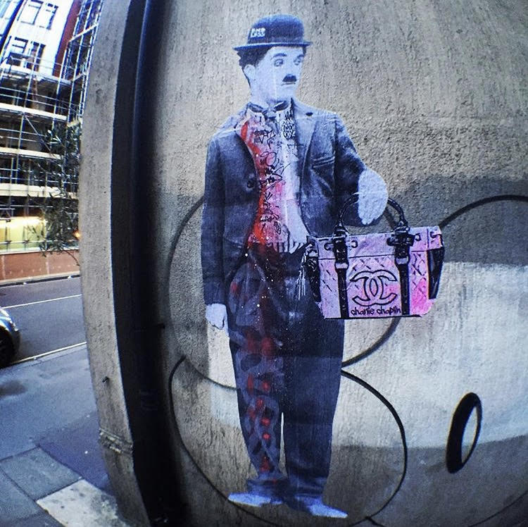 Charlie Chaplin living in central London.