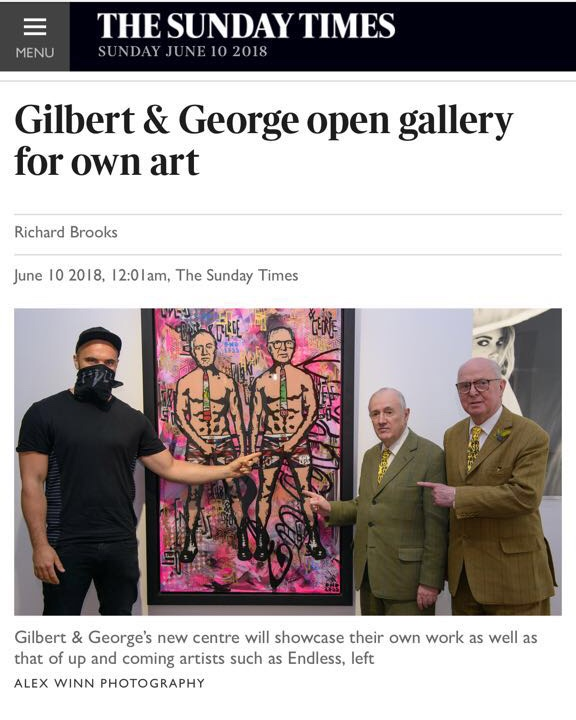 Gilbert & George with Endless in The Sunday Times
